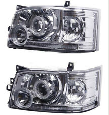 For Toyota Hiace 200 Van 2005-2010 Projector Len Crystal Angel Eye LED Headlight