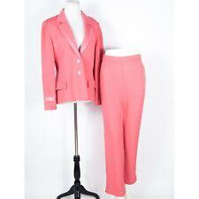 St. John Pink Santana Knit w/ Paillettes Pant Suit 8/6