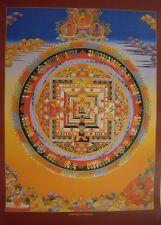 Tibetan Thangka Poster for Dharma Practice KALACHAKRA MANDALA (Gold)