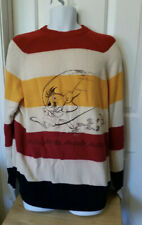 Iceberg Vintage Striped Speedy Gonzalez  Crewneck Sweater XL Italy