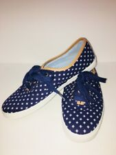 Tommy Hilfiger Ladies Lace Up Canvas Sneakers Shoes Blue/White Size 7