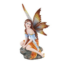 Autumn Fall Fairy in Breeze Enjoy Figurine Statue Faery Collection Mystical