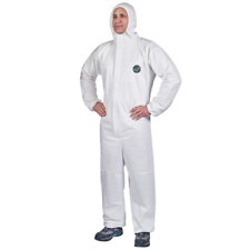 Dupont Tyvek Disposable Proshield 60 Hooded Coverall Microporous Type White