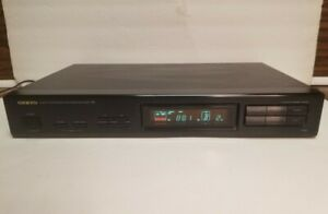 Onkyo T-401 Quarts Synthesized FM Stereo AM Tuner - Tested - Works