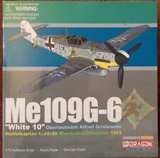 Dragon Wings Me109G-6 White 10 Oberleutnant Alfred Grislawski 50275 1:72 NEW