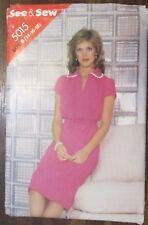 SEE & SEW sewing pattern no.5015 ladies DRESS sizes 14,16,18 uncut