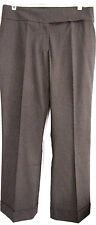 NWT Dialogue Elizabeth Hasselbeck Dark Brown Cuffed Career Dress Pants, 12