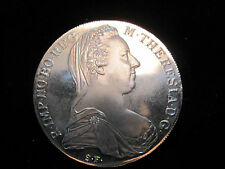 SILVER MARIA THERESIA  1 D.C.  1780 X. VIENA HAFFNER. UNCIRCULTED MINT  GRADE.