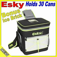 Genuine Esky 30 Can Hybrid Cooler Hard Inner Insulated Lining With Ice Brick