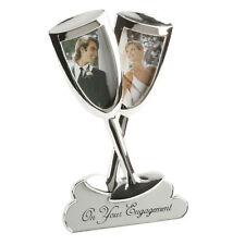 JULIANA argent plaqué fiançailles flûtes à champagne Cadre photo cadeau