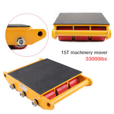 New listing 33000lbs 15Ton Industrial Machinery Mover Roller Dolly Skate w /9 Rollers