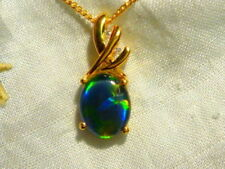 Triplet Opals Gold Natural Fine Necklaces & Pendants