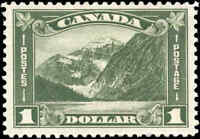 Mint H Canada 1930 F-VF Scott #177 $1.00 King George V Arch/Leaf Stamp