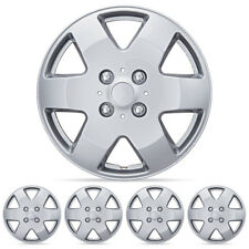 "Silver Hubcaps OEM Replacement Car Wheel Cover for 15"" Rims (4 Pack)"