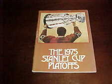 1975 St Louis Blues v Pittsburgh Penguins Stanley Cup Playoff Hockey Program