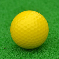 Elastic Synthetic Rubber Golf Ball Training Practice Ball Yellow 42.6mm