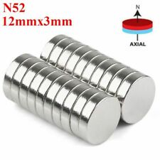 5 100x Super Strong Round Disc Magnets Rare Earth Neodymium Magnet N52 12mm3mm