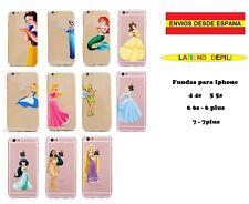 """Funda Iphone 4 5 6 7 plus Princesas Disney """"Envío desde España"""""""