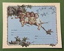 Babies on a Limb Birth Certificate Old Print Factory