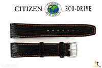Citizen Eco-Drive E812M-S033870 21mm Black Leather Wristwatch Band E820M-S061806