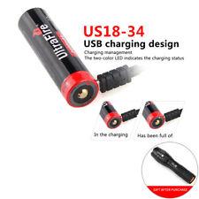 Ultrafire 18650 Actual Capacity 3400mAh 3.7V Li-Ion USB Rechargeable Battery