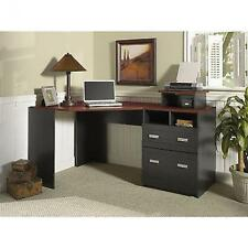 Corner Computer Desk L Shape Workstation Wood Table Home Office Furniture Black