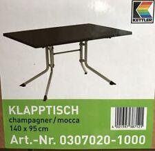 Kettler Klapptisch Champagner/Mocca 140 X 95 cm NEU & OVP