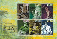 Elvis Presley $1.50 Bequia St Vincent Grenadines Souvenir Stamp Sheet 6 Stamps