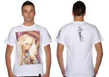 "New Extremely Rare Dissizit Paris Hilton ""Marker Pop"" T-Shirt White XL MSRP $38"
