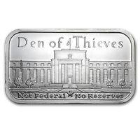 1 oz Silver Shield Bar - Den of Thieves - SKU #87330