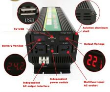 24V To 220V LED display 5000W 10000W(peak) Power Inverter 2P air conditioning