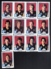 1981 VFL SCANLENS CARDS - CARLTON TEAM X 13