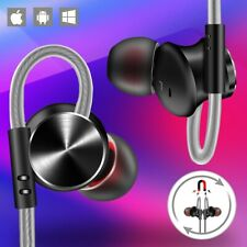 Sports Magnetic Wired Earphones Stereo Bass Noise Cancelling Ear Buds Headsets