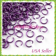 6mm 100pcs Dk Violet Aluminum Jump Rings Jewelry Findings Open Chainmaille 11