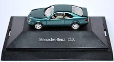 Mercedes Benz CLK Coupe C208 1997-99 mineralgrün metallic 1:87 Herpa