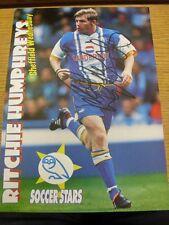 90-2000's AUTOGRAFATO MAGAZINE FOTO A4: Sheffield Wednesday-Humphreys, ritc