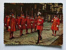 Tower of London Yeoman Warders Vintage colour Postcard 1963