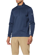 New $70 Nike Golf Men's Therma Fi 00006000 T Water-Repellent 1/2 Zip Top Olc Ar2600 Navy L