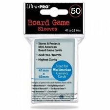 50 Ultra Pro 41mm X 63mm Mini American Board Card Game Sleeves 82662 Small