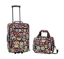 """Rockland F102-Owl 2 Pc Owl Luggage Set 13"""" X 7.5"""" X 19"""" NEW"""