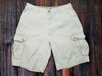 WOOLRICH Cream Men's Size 32 Tag 36 Hiking Camping Cargo Shorts SEE PICS