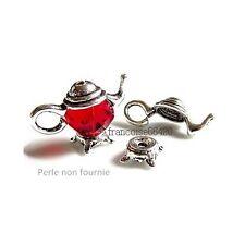2 sets Caps calottes coupelles Cadre théière 21x9x8.5mm apprêts créa bijoux A253