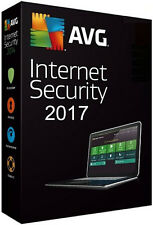 AVG Internet Security 2017 1 Year 1 PC Official Genuine Licesne