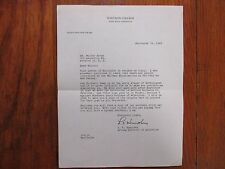 L. C.  HUMPHREY  Signed  1949  Letter-Whitman College Football Athletic Director