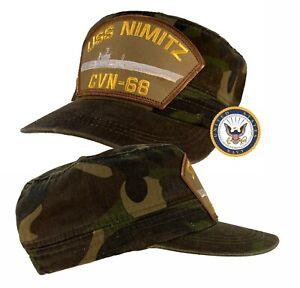 USS Nimitz Hat CVN-68 Hat Cap Cadet / Fatigue Style Camo w/Free Navy Sticker