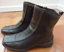 ECCO - Brown Leather Zip Ankle Boots - £139 - Size UK 3 - Wool Lining  - REDUCED