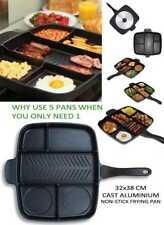 Original Magic Pan Non-Stick Multi-Section 5-in-1 Frying Grill Hob Magicpan