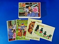 More details for 100 vintage repro 4 types of 25 each, cats by mayfair cards of london