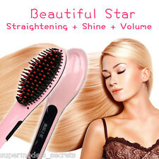 Beautiful Star Electronic 3in1 Straightening+shine+volume hair brush iron
