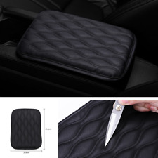 Practical Car Armrest Pad Cover Auto Center Console PU Leather Cushion Mat Black